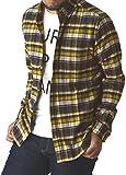 (リミテッドセレクト) LIMITED SELECT ゆうパケット発送 ネルシャツ メンズ チェックシャツ 長袖 マドラス オンブレ 大きいサイズ / R1K-0696 / M / E柄 26