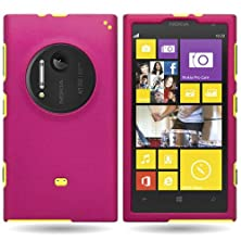 buy Coveron® Hard Rubberized Slim Case For Nokia Lumia 1020 - With Cover Removal Pry Tool - Rose Pink