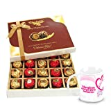 Graceful Gesture Of Wrapped Chocolates With Love Mug - Chocholik Belgium Chocolates