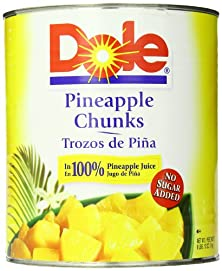 buy Dole Pineapple Chunks In Juice, 106 Ounce Cans (Pack Of 6)