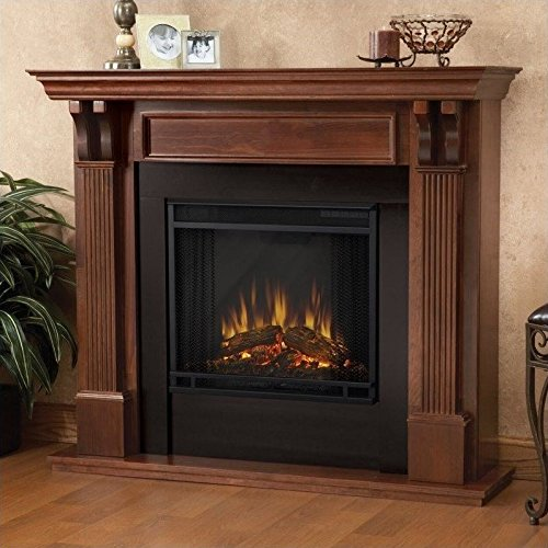 Real Flame 7100E Ashley Electric Fireplace, Medium, Mahogany (Gel Fireplace Ashley compare prices)