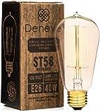 Edison Bulb by Deneve - 1 Pack Standard - Thomas Edison Light Bulb, Edison Light Bulb, Edison Bulb Lamp, Edison Bulb 40w, Edison Bulbs, Edison, Light Bulbs, Chandelier Edison Bulb
