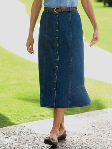 Ruffle-bottom Vintage Denim Skirt / Ruffle-bottom Vintage Denim Skirt, 16