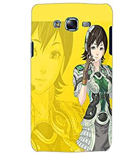PrintDhaba SHADOW GIRL D-6613 Back Case Cover for SAMSUNG GALAXY J5 (Multi-Coloured)
