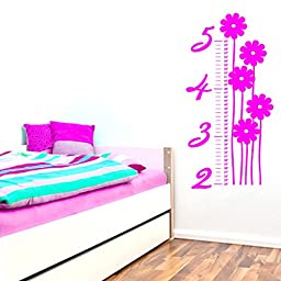Flower Growth Chart - Wall Decals