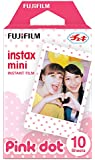 Fujifilm Instax Mini Color Film, Pack of 10, Pink Dot Frame