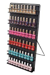 Nail Polish Rack 6 Tier Black (Free Standing or Wall Mount)