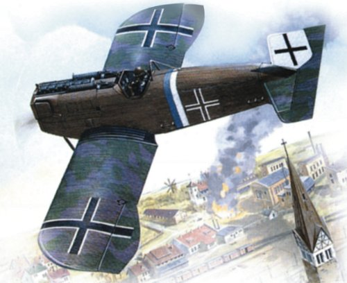 Roden Junkers D.I Late Airplane Model Kit - 1