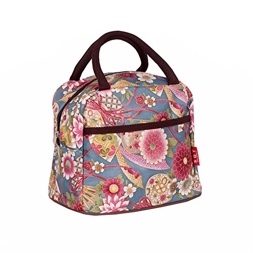 Color Flower Colorful Vertical Style Square Polyester Lunch Box Package Luxury Women Lady Girl Message Shopper Hobo Tote Shoulder Bag Purse Satchel Handbag