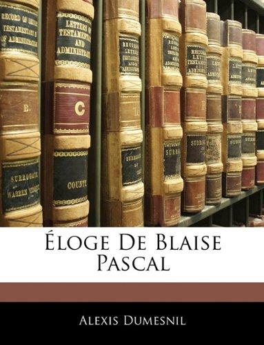 Éloge De Blaise Pascal