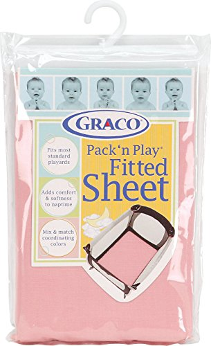 Graco Pack 'n Play Playard Sheet, Pink (Play Yard Fitted Sheet compare prices)