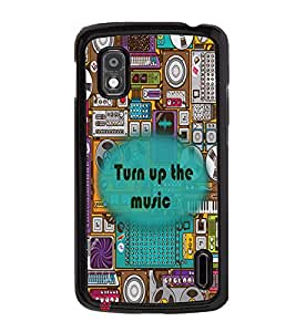 Printvisa 2D Printed Music Designer back case cover for LG Nexus 4 E960 - D4339