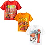 Disney Little Boys' Cars 3 Pack Tee