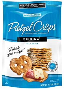 Snack Factory Original Pretzel Crisps, 7.2-Ounce Bags (Pack of 12)