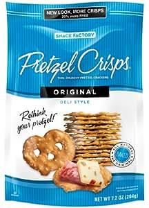 Snack Factory Original Pretzel Crisps, 7.2-Ounce Bags (Pack of 12)