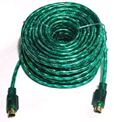 CABLESETC Pure OFC Copper 4 Pin S Video SV To 4 Pin S Video SV Male Cable - 10 Meters