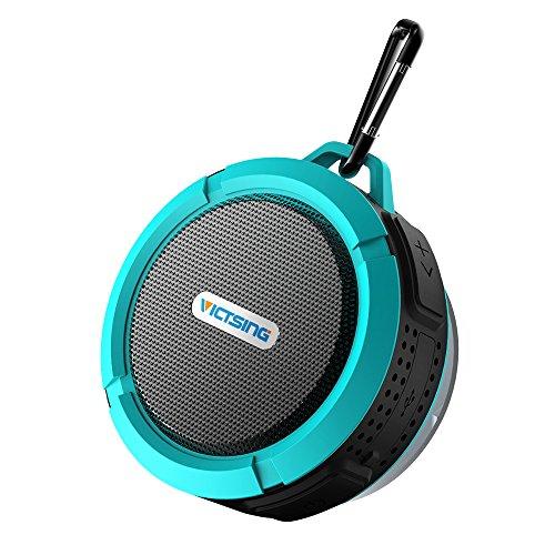 VicTsing Shower Speaker, Wireless Waterproof Speaker with 5W Drive, Suction Cup, Buit-in Mic,