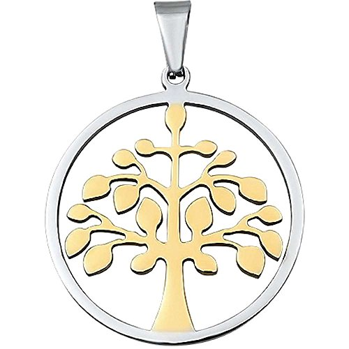 2 Tone Tree Of Life Stainless Steel Pendant