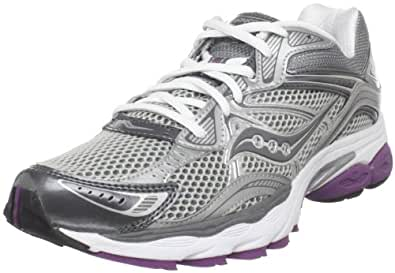 Saucony Women's Progrid Omni 10 Running Shoe,Silver/Grey/Purple,10 M US