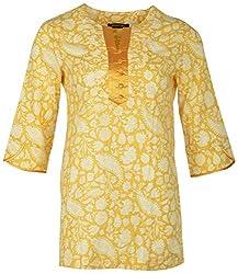 Century Women's Cotton Regular Fit Kurti(#TF211,Yellow)