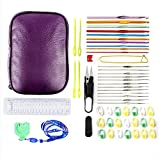 Martha Pratt MP-C-101 Travel Size Crochet Hooks Gift Set with 7 Accessory Deluxe Crochet Kit