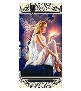 ColourCraft Angel Design Back Case Cover for SONY XPERIA T2 ULTRA DUAL D5322