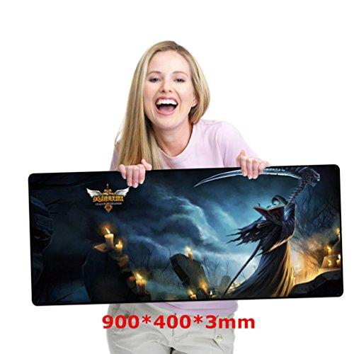 gaming-tapis-de-souris-taille-l-90-40-03-cm-resistant-a-leau-tapis-de-souris-noir-avec-base-en-caout