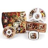 Merritt Tuscan Poppies Melamine Dishware Collection, Type: 11