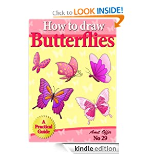 How to Draw Butterflies (How to Draw Cartoons - Kids Activity Games) (how to draw comics and cartoon characters)