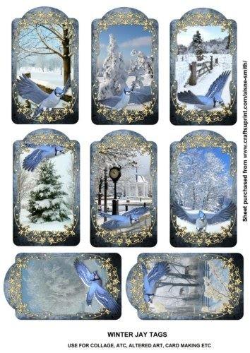 Winter Tags by Jay Aisne Smith