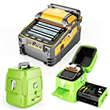 Qiirun AI-9 Fusion Splicer Toolbox Kit with Automatic Focus and 6 Motors for Trunk Line Construction, FTTH and Cable Splicing Projects (Color: Green)