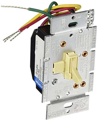 Lutron AY2-LFSQ-IV Ariadni 1.5 A Single Pole 3- Speed Combination Fan and Light Control, Ivory (Fan And Light Dimmer Switch Ivory compare prices)