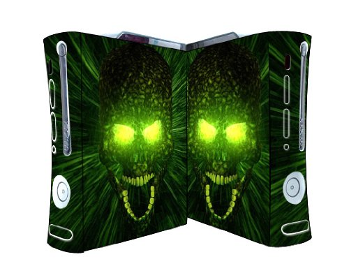 Bundle Monster Vinyl Skins Accessory For Xbox 360 Game Console - Cover Faceplate Protector Sticker Art Decal - Green Monster