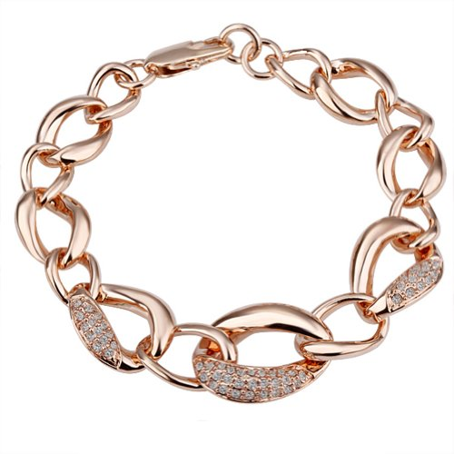 18K Gold Plated Bracelet Health Jewelry Nickel
