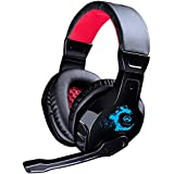 Noise Cancelling Professional Bass Gaming Headset For PC With Microphone Black