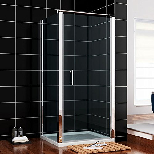 760x760mm Frameless Pivot Hinge Shower Enclosure Side Panel Cubicle screen glass door NEXT DAY DELIVERY