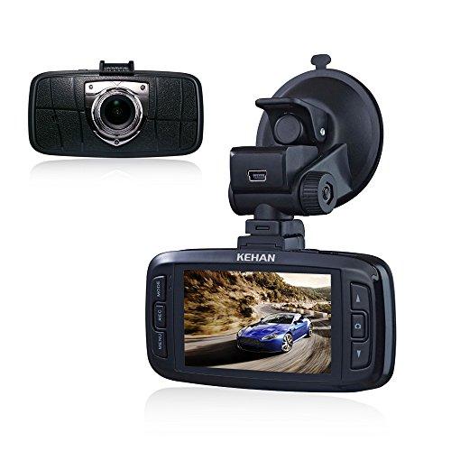 """KEHAN C821N Full HD 1080P Registratore Auto DVR Video Dash Cam Videocamera 150 Gradi Ampio Angolo 2,7"""" Schermo Novatek 96650 Chip SONY IMX323 Sensor con G-Sensore HDR 6-Glass Lenti Foto Risoluzione 12M Stabilizzazione Zoom Digitale SOS Bottone + 16GB Scheda Memoria"""
