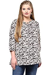 Alto Moda by Pantaloons Women's Tunic ( 205000005652570, White, XXXX-Large)