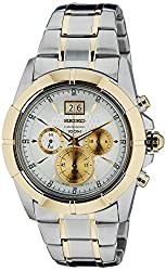 Seiko Lord Chronograph White Dial Mens Watch - SPC110P1