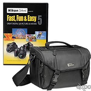 Nikon DSLR Starter Kit with Nikon School Fast, Fun and Easy DVD Set and DSLR Case