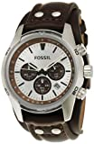 Fossil Mens CH2565 Cuff Chronograph Tan Leather Watch