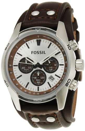 Amazing!!! Fossil Men's CH2565 Cuff Chronograph Tan Leather Watch