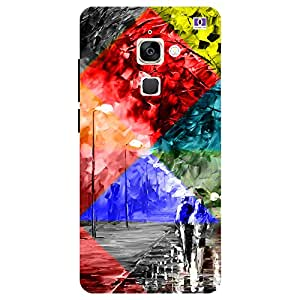 Abstract Girl & Boy - Mobile Back Case Cover For LeEco Le 2