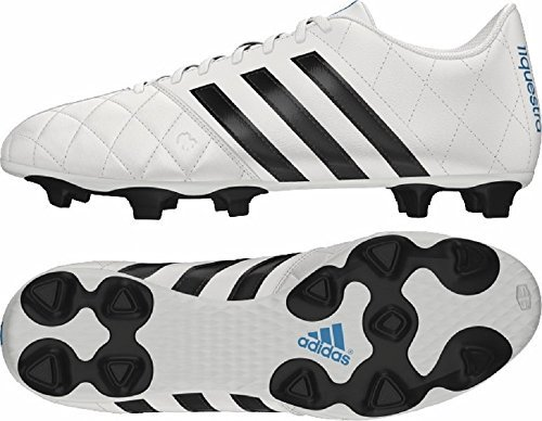Adidas - Adidas 11 Questra FG Scarpe da calcio in pelle da uomo in pelle bianco B34123, Uomo, Adidas 11questra Leather Football Boots, White/Black, UK7.5 /41 1/3 F