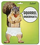 "Genuine Squirrel Underpants. 9"" Waist White Cotton Jockey-Type Drawers with an Elastic Waist"