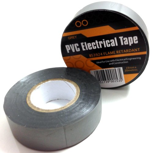 1-x-grey-silver-electrical-pvc-insulation-insulating-tape-19mm-x-20m-flame-retardant