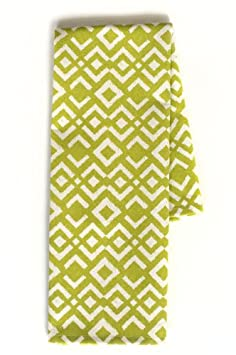 Chewing the Cud IKA-300C-T Ikat Tea Towels, Chartreuse, Set of 2