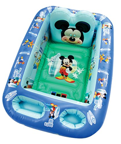 Disney Mickey Mouse, Inflatable Safety Bathtub, Blue (Baby Bath Tub Temperature compare prices)