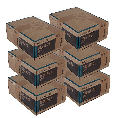 6 PACK - Tubes, 700 x 18-23  60mm PRESTA Smooth Valve