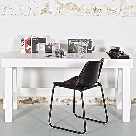 lounge-zone SCRIVANIA sekterät tavolo in legno jugendschreibtisch GRONINGEN legno pino bianco 150x66cm 12640